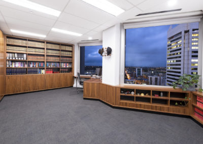 Built in bookshelves / office furniture.  Perth CBD Chambers, St Georges Terrace