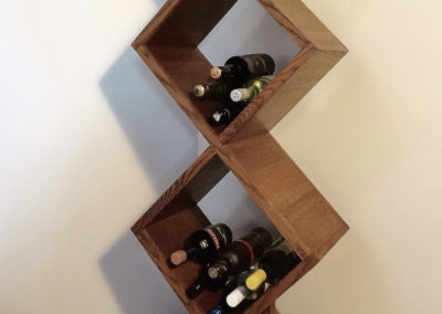 Custom Furniture - Contemporary American Oak Wine Rack, Bayswater