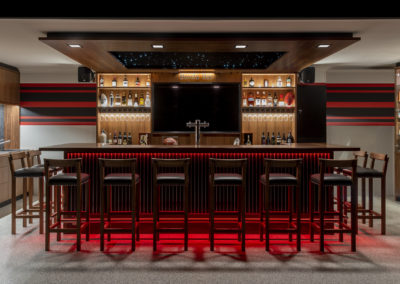 Home bar custom designed and handcrafted throughout, Perth.