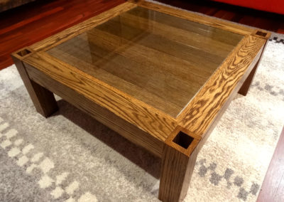 Custom Furniture - American Oak Contemporary Coffee Table