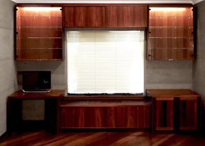 Built in display cabinets and office desk, Jarrah, Perth
