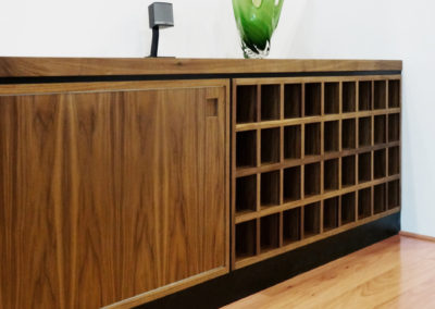 Credenza with wine cabinet, American Black Walnut, South Perth.